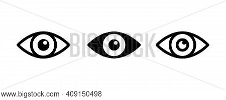 Eye , Look And Vision Icons Set. Web Site Page And Mobile App Design Vector Element. Sign Of View, L