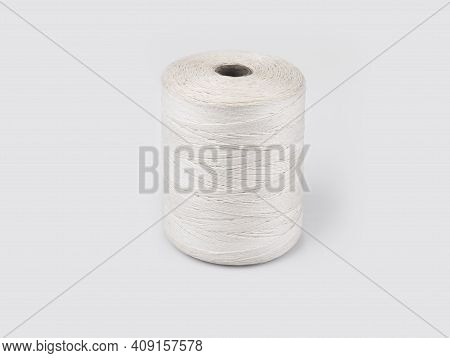 Roll Of Thin String On A White Background