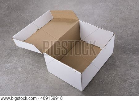 An Isolated Blank Foldable Collapsible Rigid Box