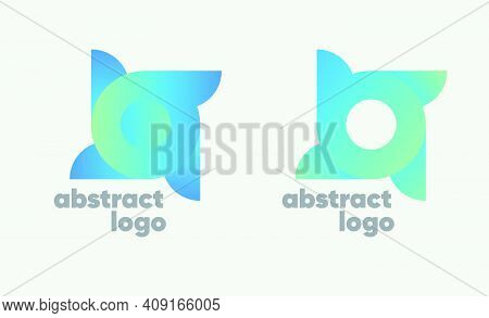 Logo Science, Spaces. Abstract Modern Technology Logo. Abstract Innovation Logo. Abstract Gradient L