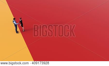 Business Marketing Template as Advertising Background Layout 3d Render