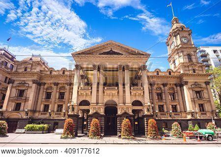 Melbourne Town Hall At Central Melbourne, Victoria, Australia