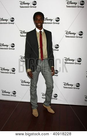 LOS ANGELES - JAN 10:  Edi Gathegi attends the ABC TCA Winter 2013 Party at Langham Huntington Hotel on January 10, 2013 in Pasadena, CA