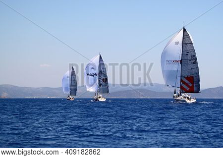 Bodrum,turkey. 19 August 2016: The Sailing Races Have Been Performed By The Organization Of Turkey S