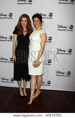LOS ANGELES - JAN 10:  Darby Stanchfield, Bellamy Young attends the ABC TCA Winter 2013 Party at Langham Huntington Hotel on January 10, 2013 in Pasadena, CA