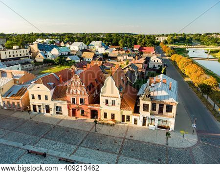Beautiful Aerial View Of The Market Square Of Kedainiai, One Of The Oldest Cities In Lithuania. Uniq