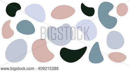 Random Blob Shapes. Splat And Fleck Graphic. Vector Design For Posters, Cards, Illustration, Invitat