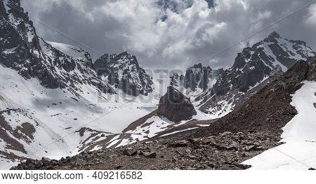 Ili Alatau Mountain Range Of The Tien Shan System In Kazakhstan Near The City Of Almaty