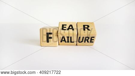 Fear Of Failure Symbol. Turned Wooden Cubes And Changed The Word 'failure' To 'fear'. Beautiful Whit