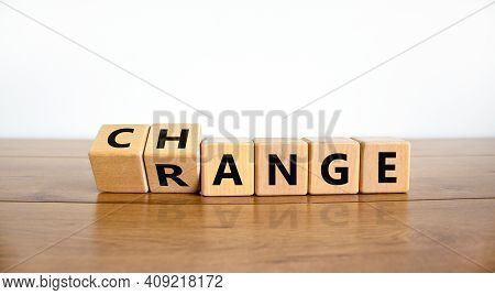 Change Range Symbol. Turned Cubes And Changed The Word 'change' To 'range'. Beautiful Wooden Table,