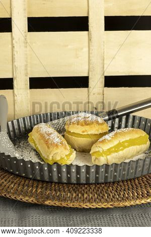 (carmelitas De Jerez) Typical Andalusian Dessert Of Dough Bread And Cream Special For Christmas And