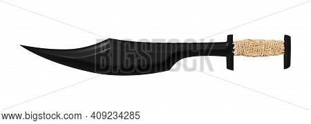 Black Sparta King Sword Isolated On White Background
