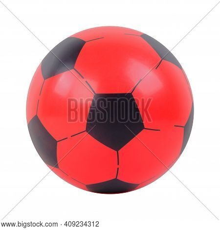 Toys - Red And Black Ball. Isolated On An White Background