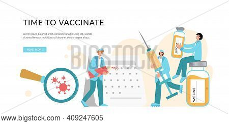 Prevention Injection, Immunization. Coronavirus Infection Treatment. Doctor Create Vaccination Sched