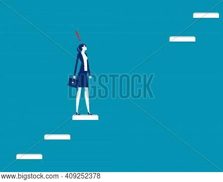 A Woman Lost The Stairs To Move Up