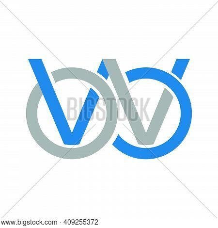 Another Concept Arrows Letter W Logo Concept With Blue Orange Element Icon And Template