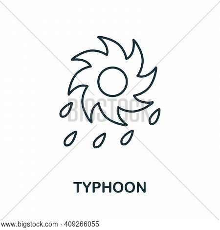 Typhoon Icon. Simple Element From Natural Disaster Collection. Creative Typhoon Icon For Web Design,
