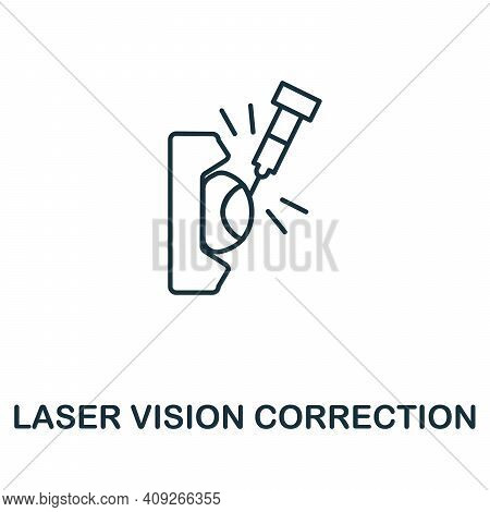 Laser Vision Correction Icon. Simple Illustration From Ophthalmology Collection. Creative Laser Visi