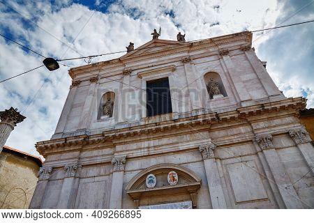 View Of The Roman Catholic Church Sant'alessandro In Colonna (saint Alexander Church). The Baroque S