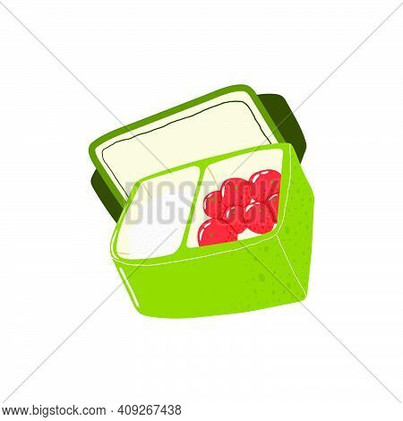 Reusable Lunchbox. Simple Icon Of Reusable Container For Food. Eco Friendly Packaging. Zero Waste Li