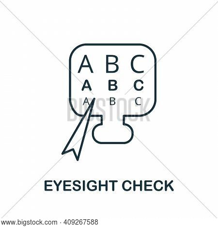 Eyesight Check Icon. Simple Illustration From Ophthalmology Collection. Creative Eyesight Check Icon