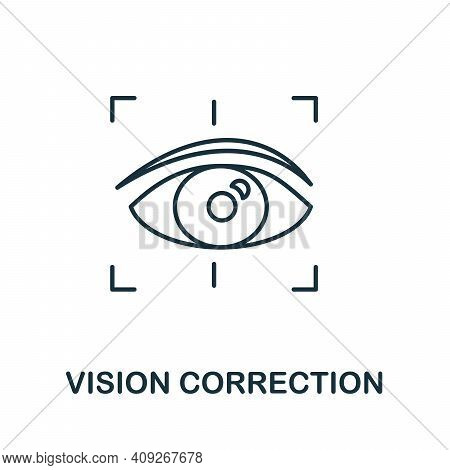 Vision Correction Icon. Simple Illustration From Ophthalmology Collection. Creative Vision Correctio