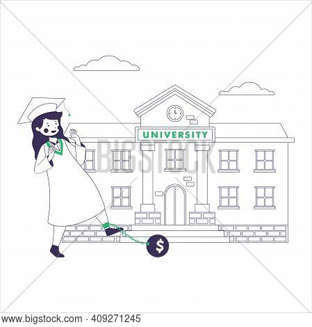 Reduce You Student Loan Payments Flat Illustration Vector