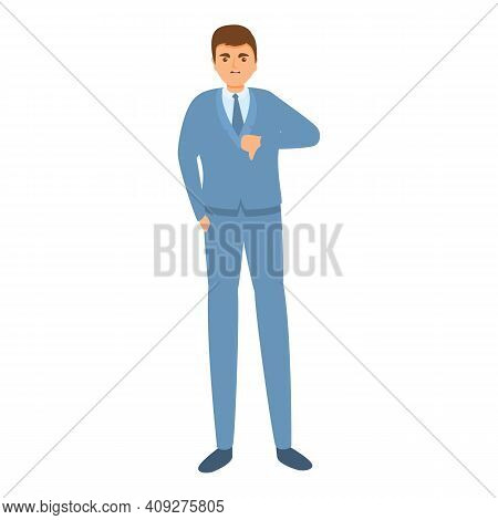 Dislike Businessman Icon. Cartoon Of Dislike Businessman Vector Icon For Web Design Isolated On Whit