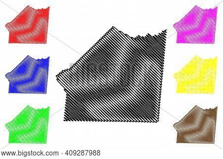 Union County, North Carolina State (u.s. County, United States Of America, Usa, U.s., Us) Map Vector
