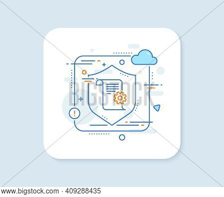 Technical Documentation Line Icon. Abstract Vector Button. Instruction Sign. Technical Documentation