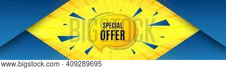 Special Offer Bubble Sticker. Abstract Background With Offer Message. Discount Banner Shape. Sale Co