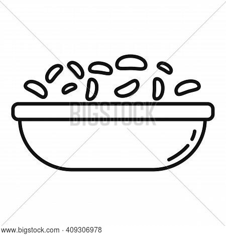 Breakfast Cereal Flakes Icon. Outline Breakfast Cereal Flakes Vector Icon For Web Design Isolated On