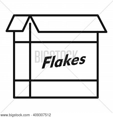 Cereal Flakes Package Icon. Outline Cereal Flakes Package Vector Icon For Web Design Isolated On Whi