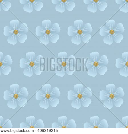 Vintage Floral Background. Seamless Vector Template For Design And Fashion Prints. Flower Pattern Wi