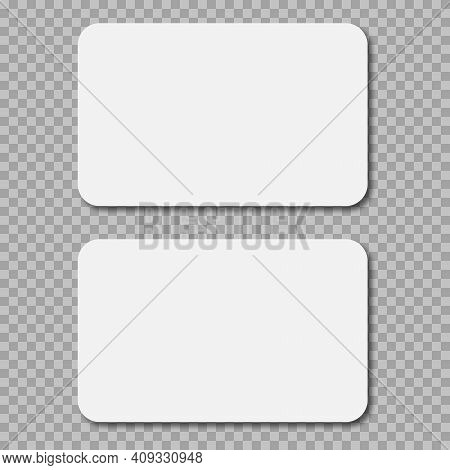 Plastic Or Paper White Card For Your Design. Can Use For Credit, Visit, Gift, Business Card. 3d Rend