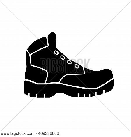 Closed Toe Shoes Required Black Icon, Vector Illustration, Isolate On White Background Label. Eps10