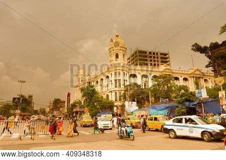 Kolkata, West Bengal, India - 10th September 2019 : Historic British Colonial Architecture Building
