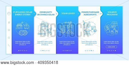 Buying Solar Panels Vector Infographic Template. Rooftop System Presentation Design Elements. Data V