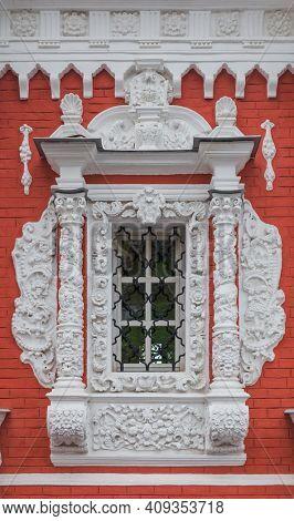 Window of Church in Nizhny Novgorod - Russia - architecture background