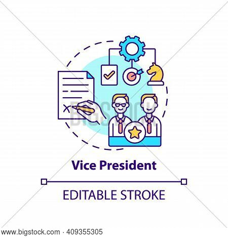 Vice President Concept Icon. Company Top Management Jobs. Executive Who Reports To President. Organi