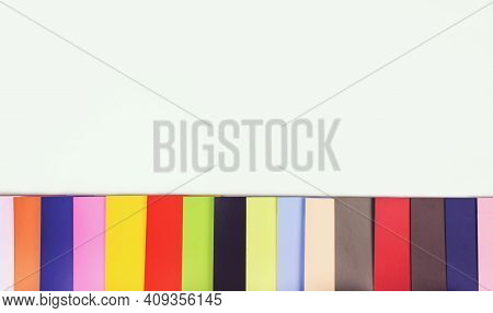 Paint Sample Color Swatch. Rgb. Cmyk. Color Sample Stock Photo.