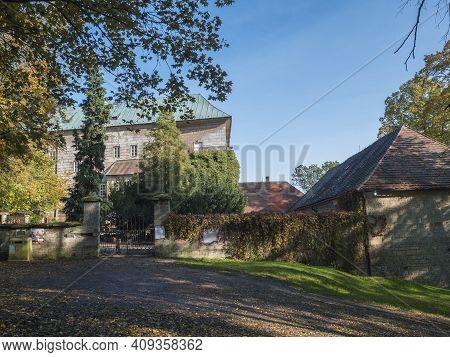Czech Republic, Houska, October 25, 2020: Medieval Early Gothic Castle Houska In North Bohemia In Au
