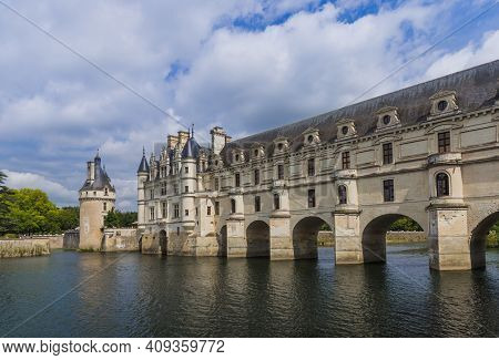 Chenonceau castle in the Loire Valley - France - travel and architecture background