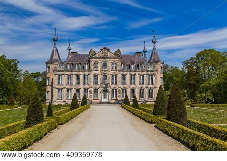Poeke Castle in Belgium - architecture background