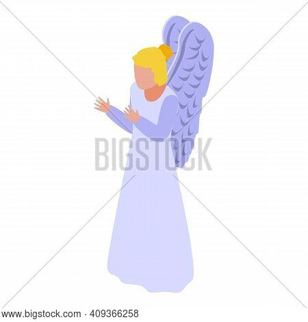 Guardian Angel Icon. Isometric Of Guardian Angel Vector Icon For Web Design Isolated On White Backgr