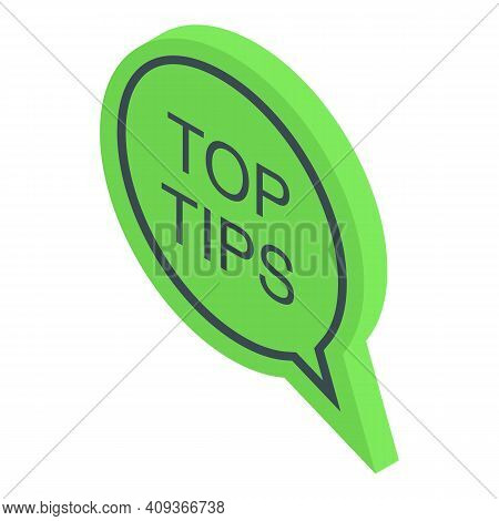 Tips Advice Icon. Isometric Of Tips Advice Vector Icon For Web Design Isolated On White Background