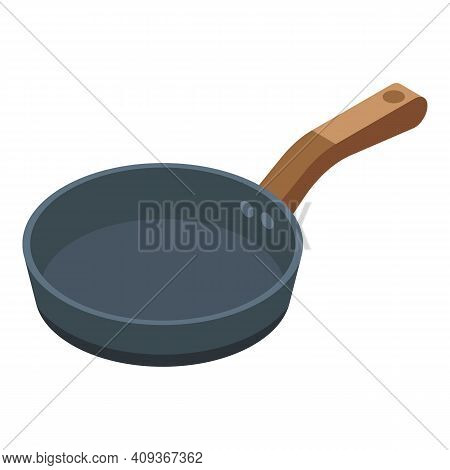 Frying Pan Icon. Isometric Of Frying Pan Vector Icon For Web Design Isolated On White Background