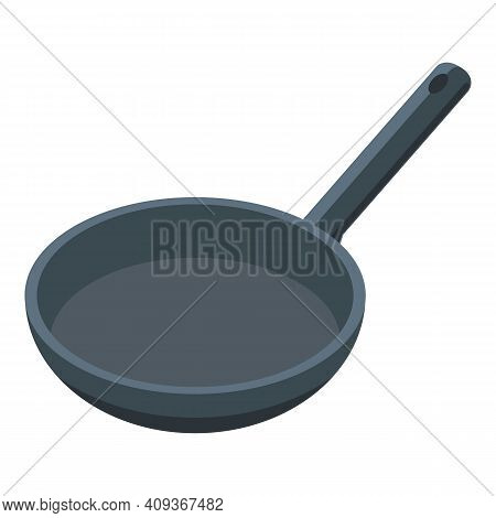 Cuisine Wok Pan Icon. Isometric Of Cuisine Wok Pan Vector Icon For Web Design Isolated On White Back