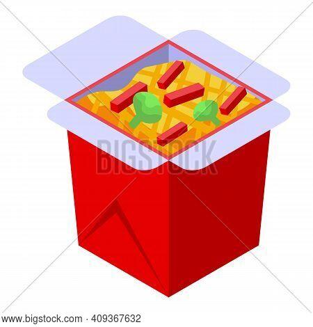 Wok Box Icon. Isometric Of Wok Box Vector Icon For Web Design Isolated On White Background