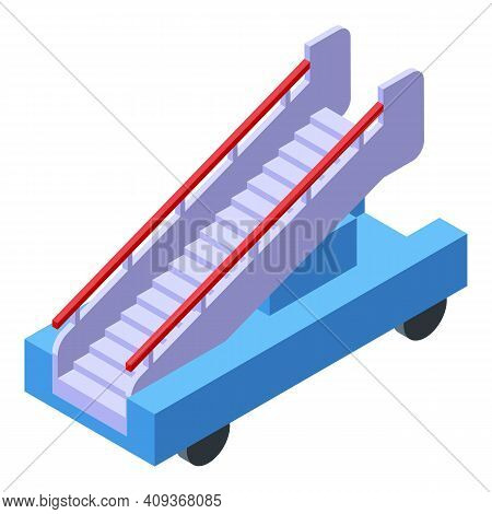Plane Ladder Icon. Isometric Of Plane Ladder Vector Icon For Web Design Isolated On White Background